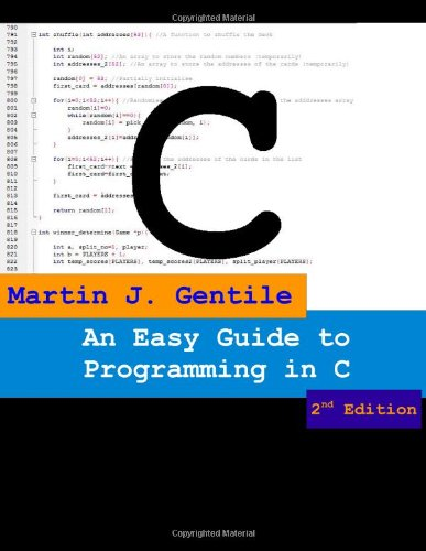 An Easy Guide to Programming in C, Second Edition