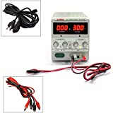 Dr.Meter® 30V/5A Single-Output DC Power Supply 110V/220V Switchable [Alligator to Banana and AC Power Cable Included]