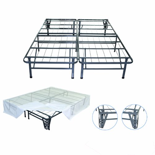 Sale!! Night Therapy Platform Metal Bed Frame/Foundation Set(SmartBase + Metal Brackets for Headboar...