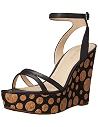 Nine West Women's Anadulo Leather Wedge Sandal