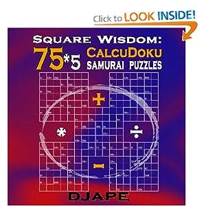 Square Wisdom: 75*5 Calcudoku Samurai Puzzles djape