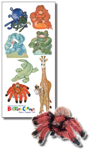 The Gand at Baxter's Corner - Deluxe Gift Set Includes Folkmanis Puppet, and Seven Small Removable Decals