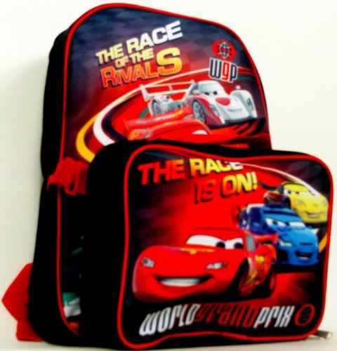 Old Glory Boys Cars - The Race Is On Medium Backpack With Detachable Case