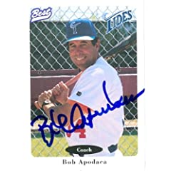 Bob Apodaca Autographed Hand Signed baseball card (New York Mets - Norfolk Tides)... by Hall of Fame Memorabilia