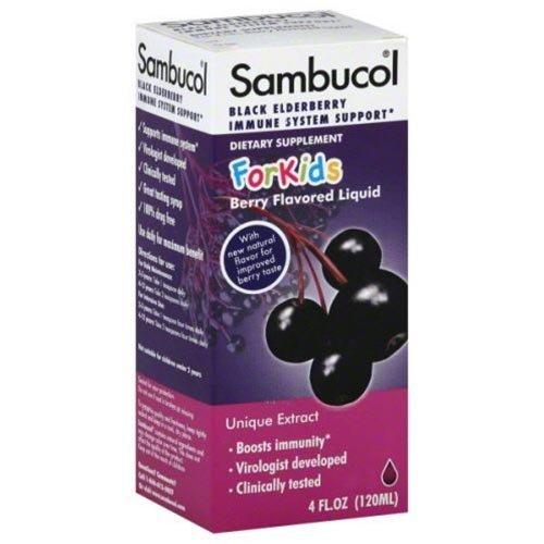 SAMBUCOL BLACK ELDERBRY SYRUP,KIDS, 4 FZ (Sambucol For Kids compare prices)