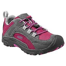 Keen Boys\' Joey Hiking Shoe Child,Sangria/Gargoyle,US 12 M