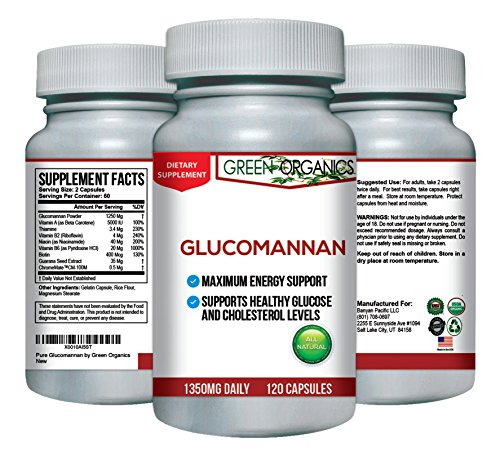Glucomannan Capsules with Konjac Root Powder for Weight Loss and Appetite Suppression by Green Organics (Thrive Sauce compare prices)
