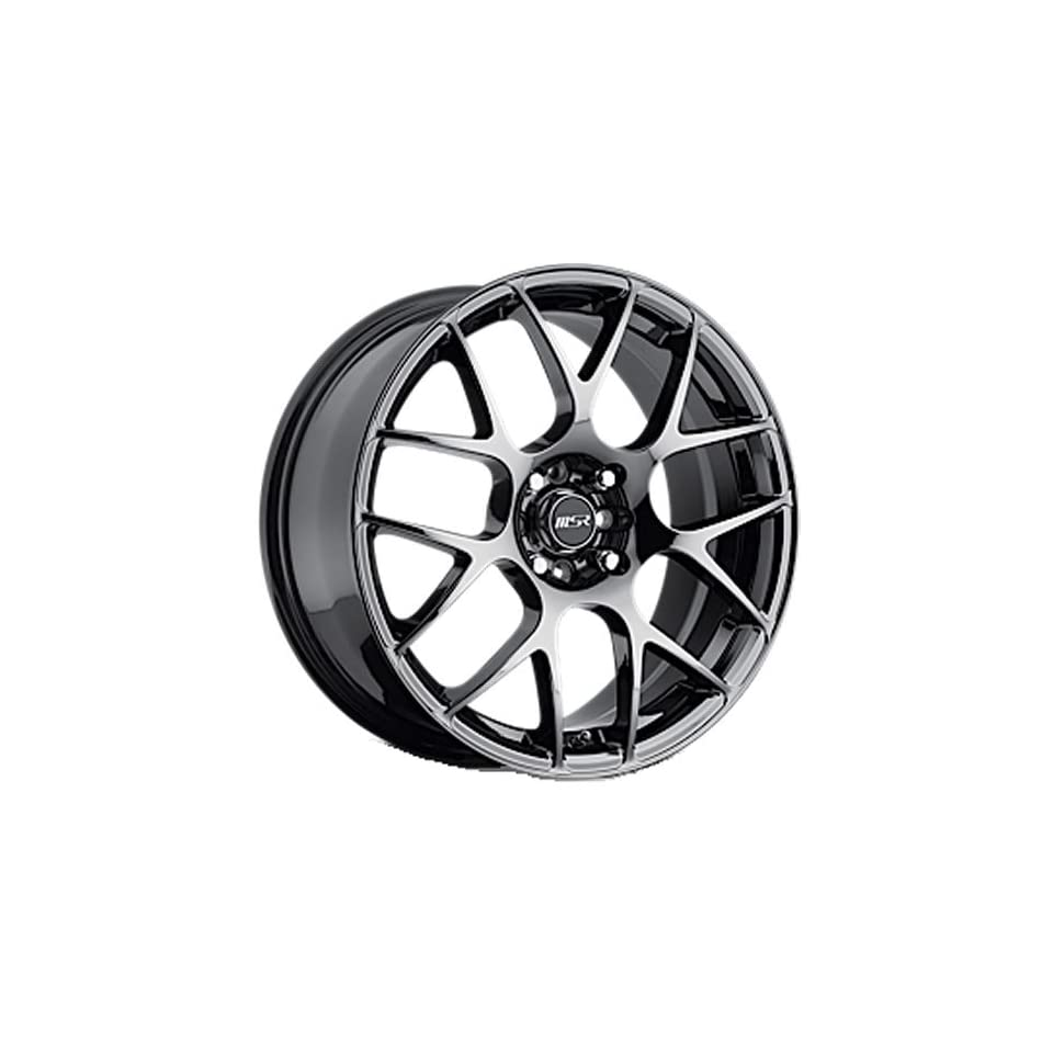 MSR 95 18 Black Chrome Wheel / Rim 5x4.5 with a 42mm Offset and a 72.64 Hub Bore. Partnumber 9589812 Automotive