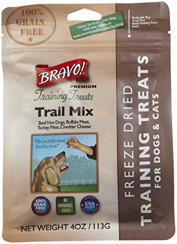 Bravo 294123 Freeze Dried Trail Mix Training Treat For Pets, 4-Ounce