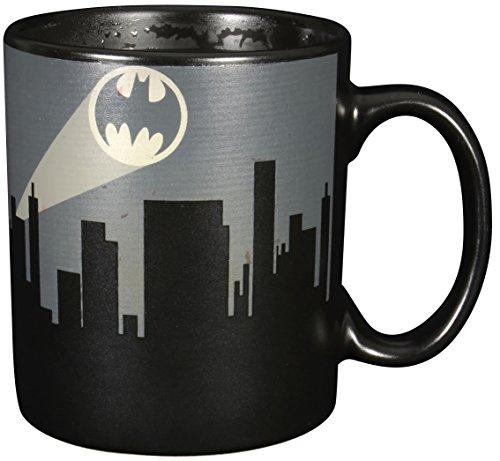 """'Batman 0122038Tazza con cambiacolore """"Bat segnale, ceramica, Nero, circa 300ml, 12x 7,5x 9,30cm"""