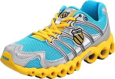 K-Swiss Women's Ultra Tubes 100 Running Shoe, Neon Blue/Silver/Bright Yellow, 10 M US