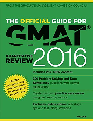 The Official Guide for GMAT Quantitative Review 2016 with Online Question Bank and Exclusive Video (Old Edition)