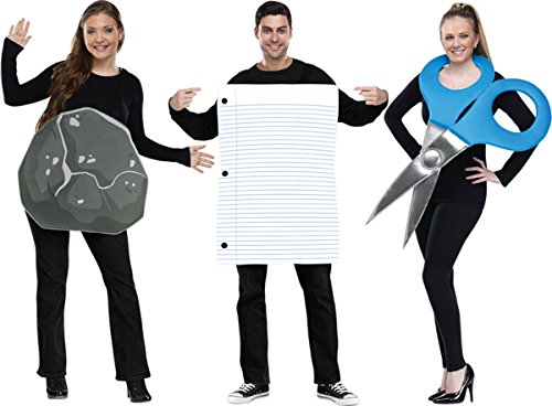 Rock Paper Scissors Couple Adult Costume Size Standard