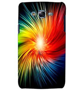PRINTSWAG Samsung Galaxy J7 ILLUSSION Back Cover + Free One Led Crystal Rotating Disco Bulb