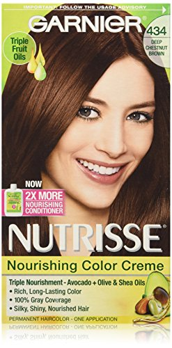 Garnier Nutrisse Nourishing Color Creme 434 Deep Chestnut Brown (Chocolate Chestnut) (Chocolate Brown Hair compare prices)