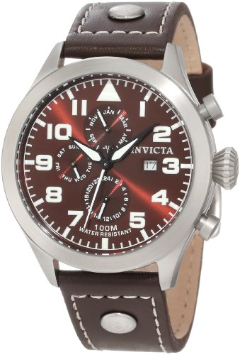 Invicta Men's 0352 II Collection Brown Leather Watch