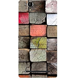 Casotec Wood Lumber Paint Design Hard Back Case Cover for Sony Xperia T2 Ultra