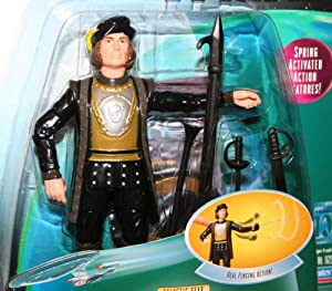 Q Star Trek: The Next Generation 1998 Warp Factor Series 1 Action Figure & Dueling Sword with Real Fencing Action
