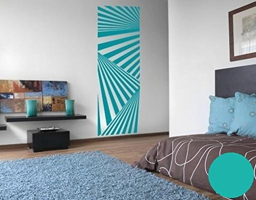 wandtattoo tapete stripes b x h 50cm x 155cm farbe t rkis erh ltlich in 35 farben und 5 gr en. Black Bedroom Furniture Sets. Home Design Ideas