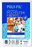 Fairfield Poly-Fil Premium Polyester Fiber, White, 1 Bag, 12-Ounce, Crafts Direct
