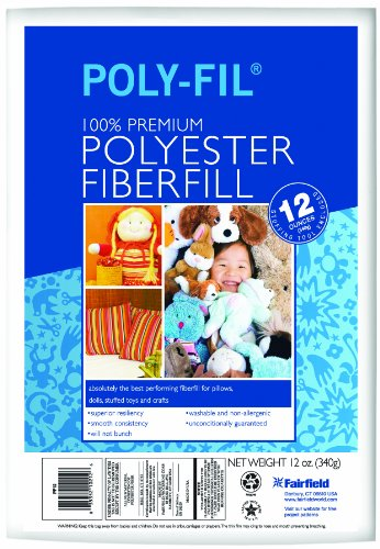 Purchase Fairfield Poly-Fil Premium Polyester Fiber, White, 1 Bag, 12-Ounce