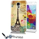 "ivencase A41 Cartoon Design Hard Protective Skin Case Cover for Samsung Galaxy S5 SV + one ""ivencase"" Anti-dust Plug"