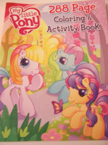 My Little Pony 288 Page Coloring & Activity Book ~ Scootaloo, Rainbow Dash & more with Butterfly - 1
