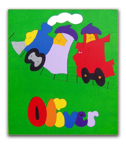 Cheap KidPuzzles Childs Wooden Name Train Puzzle (B00564HMPG)