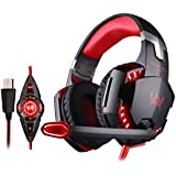 VersionTech Stereo 7.1 Surround USB Gaming Headset PC Headset Headphones With Microphone,Cool LED Lights,Super...