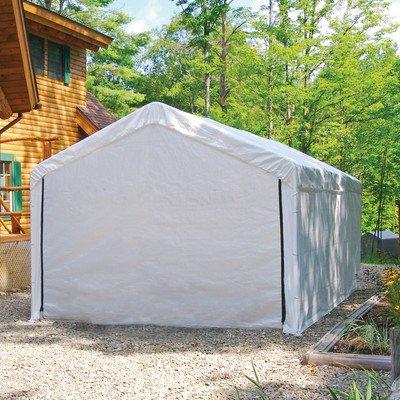 ShelterLogic 12-Feet Super Max Canopy Accessories Enclosure Kit, White, 12 x 30-Feet