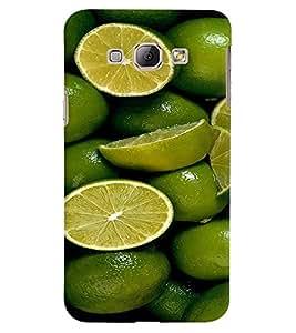 Fuson Premium Lime N Lemoni Printed Hard Plastic Back Case Cover for Samsung Galaxy A8