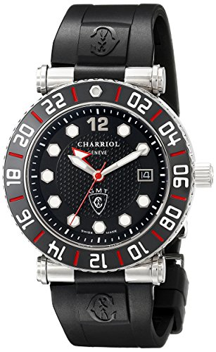 Charriol-Mens-RT42GMTB142G01-Rotonde-Analog-Display-Swiss-Quartz-Black-Watch