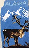 Alaska Novelty Socks Caribou Scene Unisex 8 - 11 Plush Boot Sock
