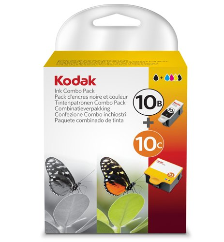 Kodak 10B / 10C (3949948) Ink Cartridge Combo - 1 x black, 1x multicolour