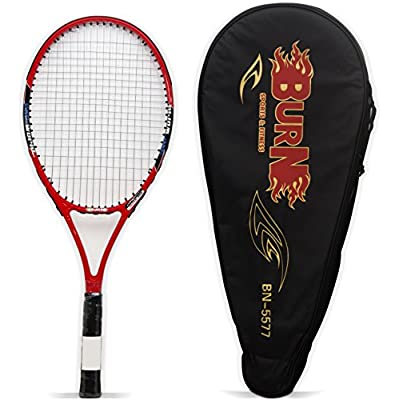 Burn BN 5577- Full Size Tennis Racquet, Standard (Red)
