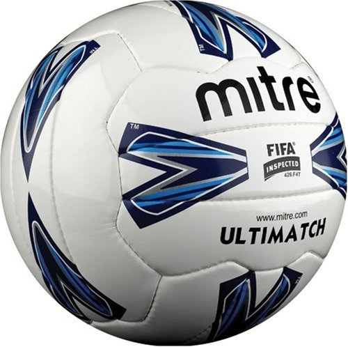 Mitre Ultimatch 18p Football  - White  Size 5