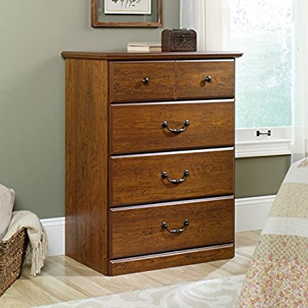 Sauder Orchard Hills 4-Drawer Chest Dresser in Milled Cherry