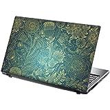 """TaylorHe Skins 15,6"""" Autocollants en vinyle coloré avec motif pour ordinateur portable (38cm x 25,5cm) Laptop Skin vignes, fleurs, bleues"""
