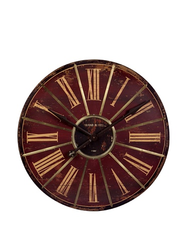 IMAX Large Red Wall Clock