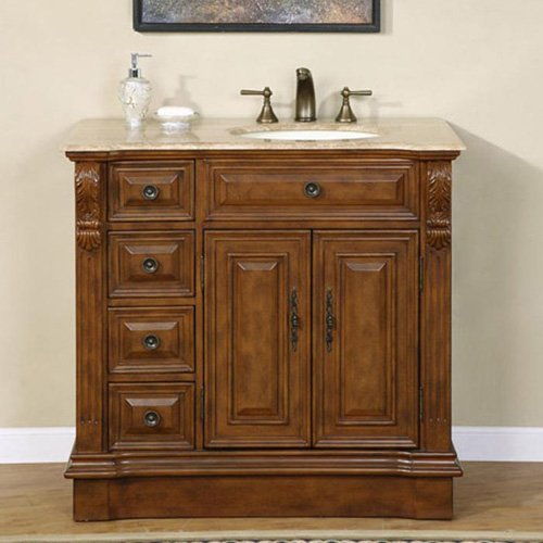 Ideal LUXExclusive Single Sink Bathroom Vanity LUX HR u uW x