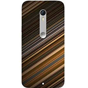 Casotec Stripes Pattern Print Design Hard Back Case Cover for Motorola Moto X Play