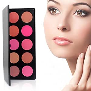 10 Color Makeup Cosmetic Blush Blusher Powder Palette Hittime 10 Color Makeup Cosmetic Blush Blushe...