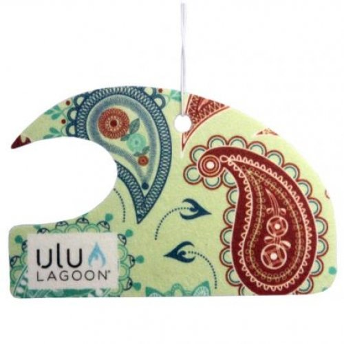 Ulu Lagoon 3 pack of Paisley Mini Wave air fresheners. Scent of surfwax. (Surf Wax Scented Air Freshener compare prices)