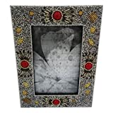 Decorative Photo Frame Indian Handmade Lac Beaded Material Vintage Style Picture Frame Table Top Antique Single... - B01ANBXETY