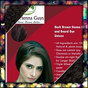 ... .comAmazon.com: Dark Brown Henna Hair Dye (Buy 2 Get 1 of Those for