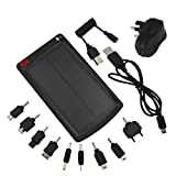 EZOPower USB Solar External Rechargeable Backup Battery - 3000mAh (1A) with UK AC Mains Charger for Google Nexus 4 ,Samsung Galaxy S3 / S3 Mini / S2 / Note 2 / Ativ S ,Nokia Lumia 920 900 820 ,Motorola RAZR i,Sony Xperia Z T J P U S ,LG Optimus ,HTC One