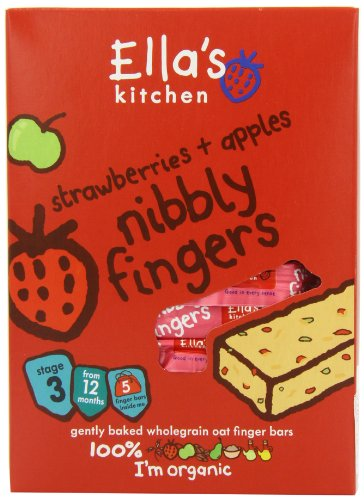 Ella's Kitchen Strawberry and Apple Nibbly Fingers 25 g (Pack of 8)