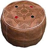 Moroccan Poof Leather