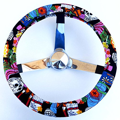 Mana Trading Handmade Steering Wheel Cover Los Novios Wedding (Steering Wheel Cover Sugar Skull compare prices)
