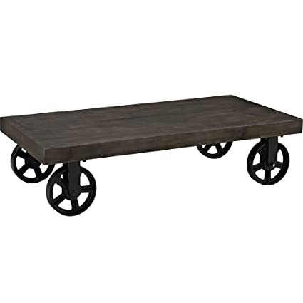 Barrack Wood Top Coffee Table in Black RTM252852